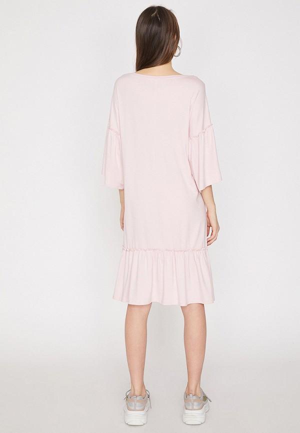 Фото 2 - женское платье Koton розового цвета