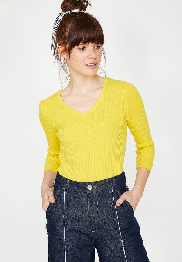 женский пуловер koton, желтый