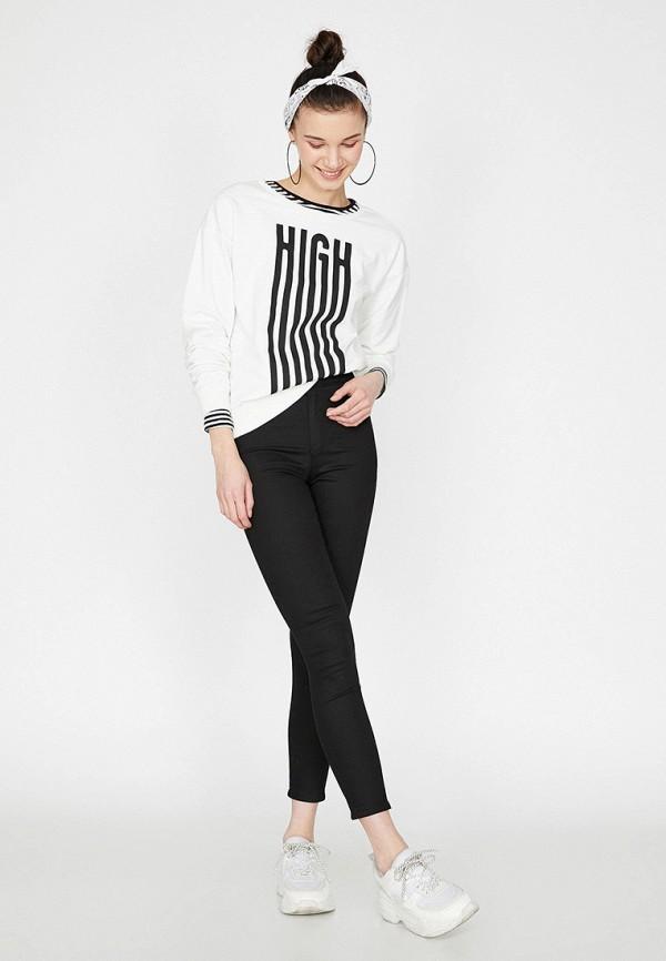 Фото 2 - Женские джинсы Koton черного цвета
