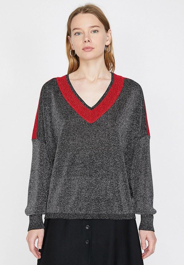 женский пуловер koton, серебряный