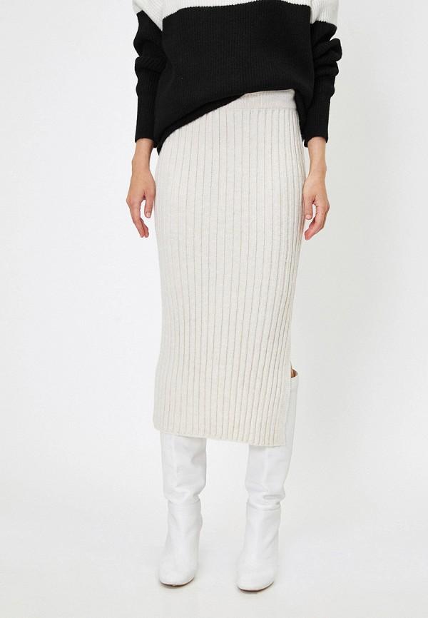 женская зауженные юбка koton, белая