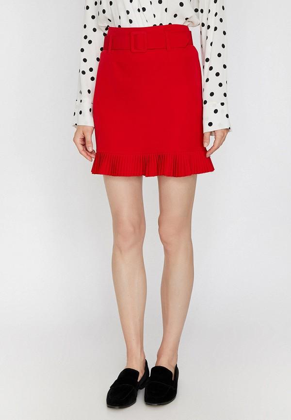 Фото - женскую юбку Koton красного цвета