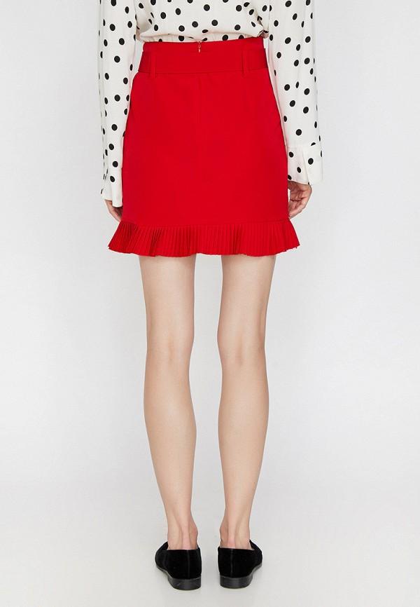 Фото 3 - женскую юбку Koton красного цвета