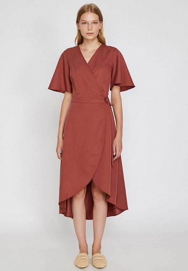 Фото 3 - женское платье Koton розового цвета