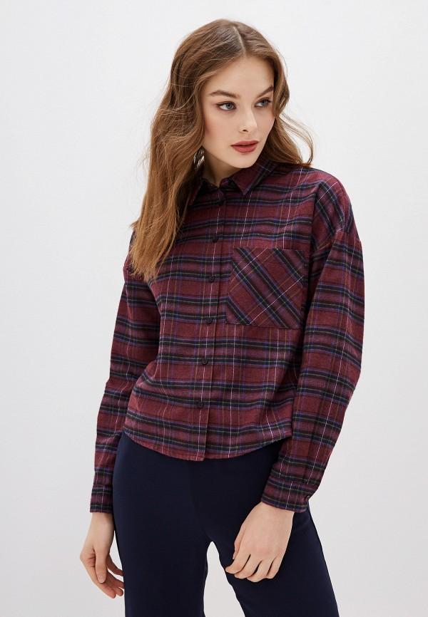 женская рубашка с длинным рукавом koton, фиолетовая