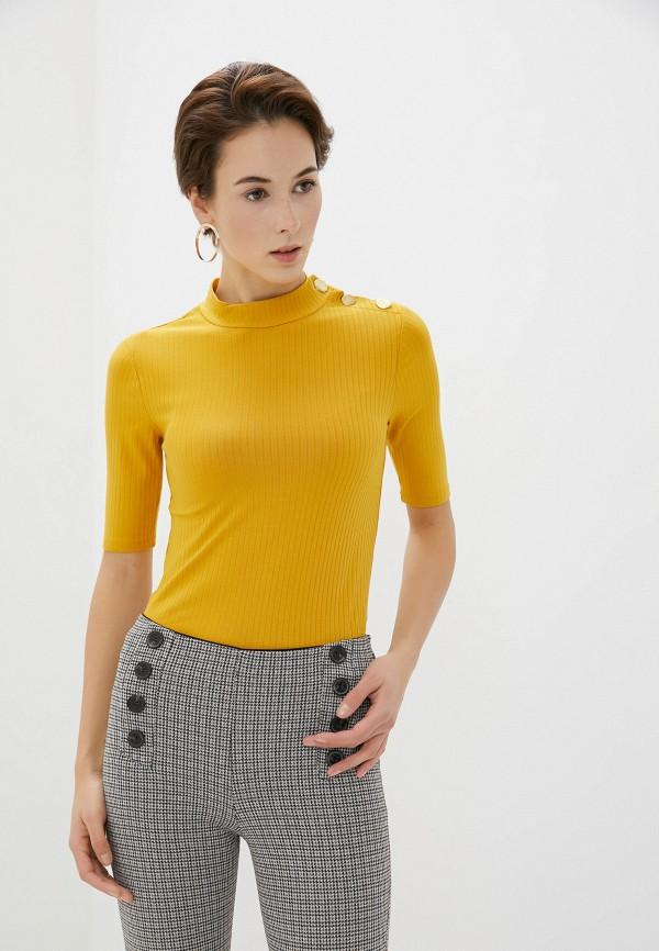 женская водолазка koton, желтая