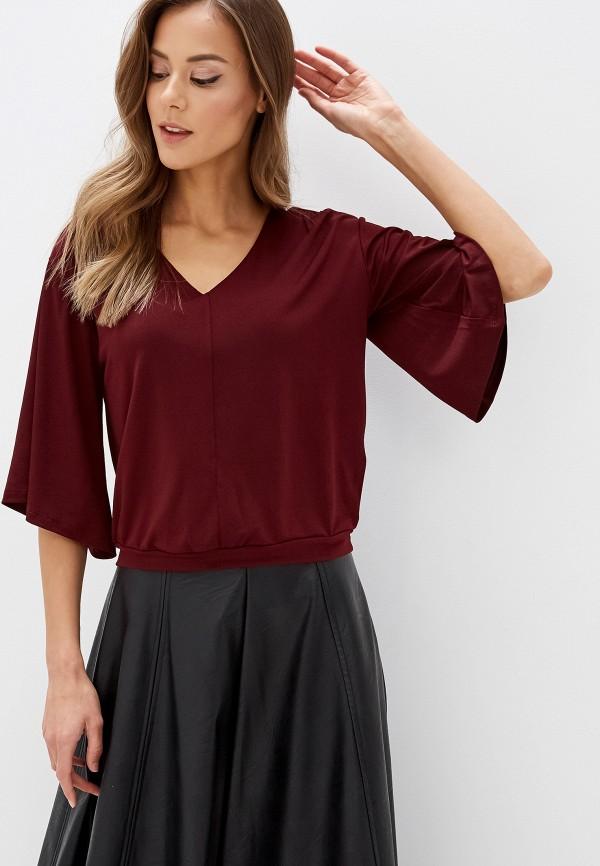 женская блузка koton, бордовая