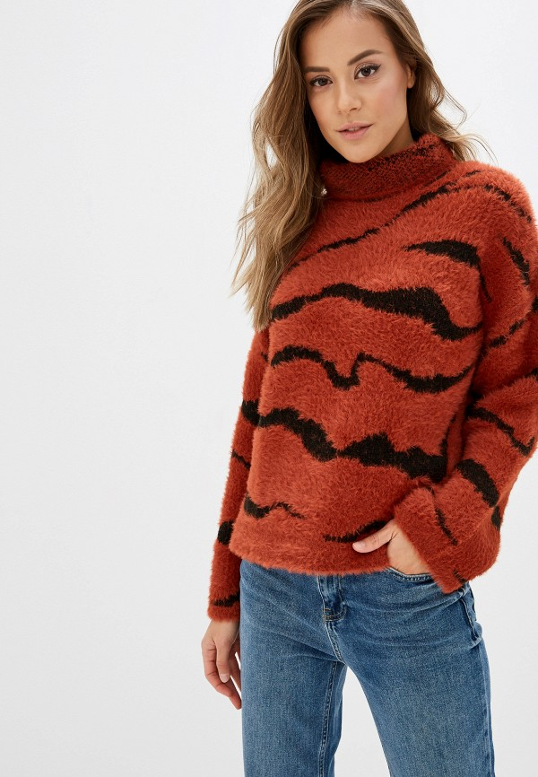 женский свитер koton, коричневый