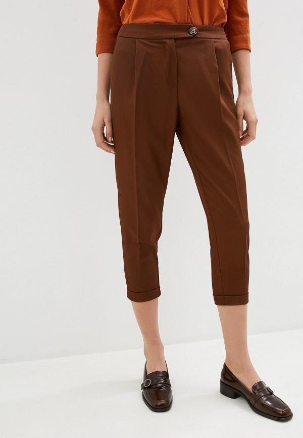 женские классические брюки koton, коричневые