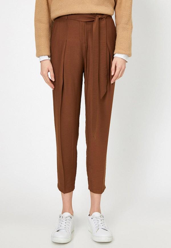 женские повседневные брюки koton, коричневые