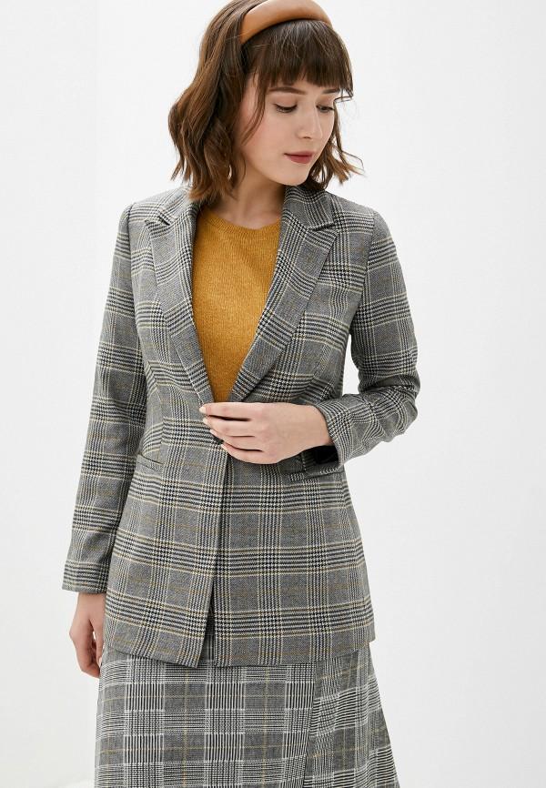 женский пиджак koton, серый