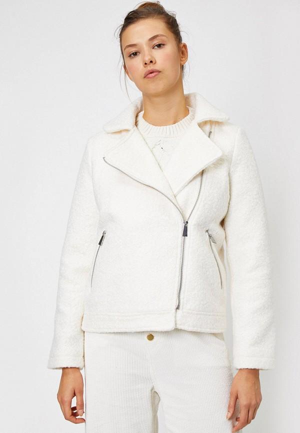женская куртка koton, белая