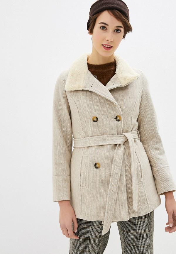 женское пальто koton, бежевое