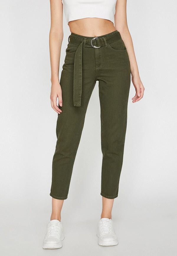женские повседневные брюки koton, хаки