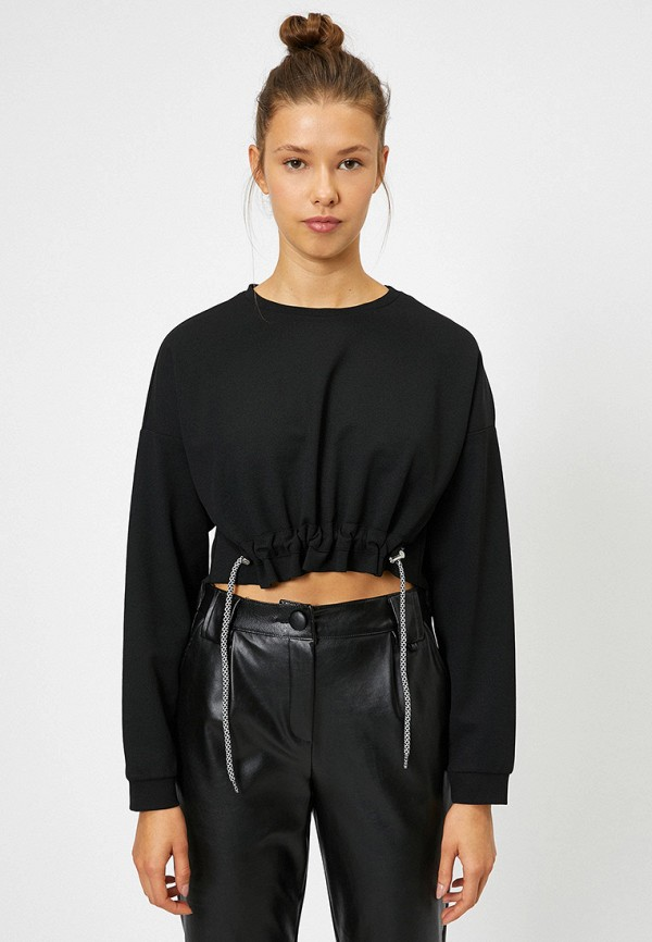 женский свитшот koton, черный