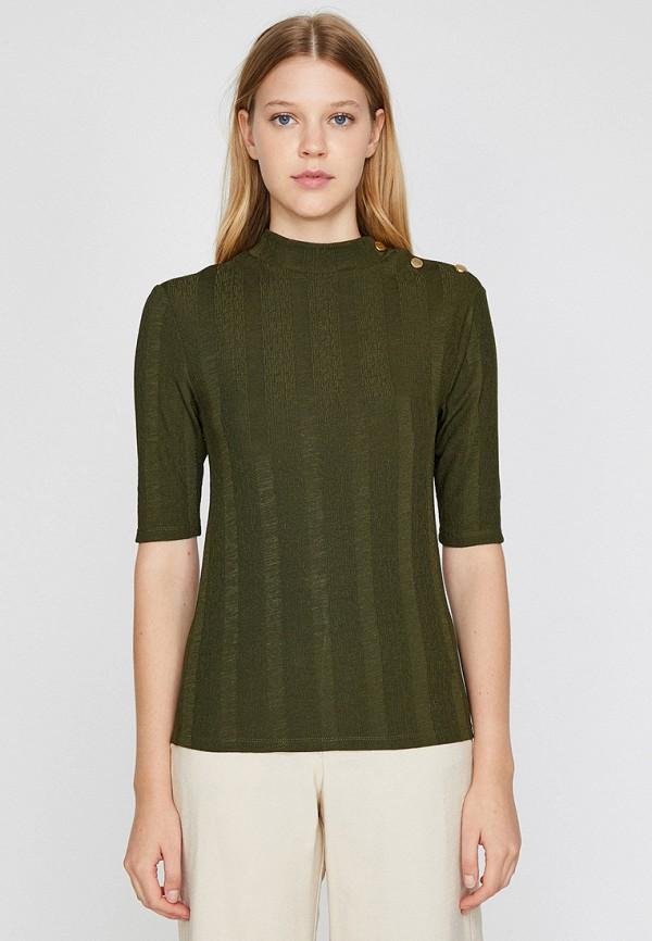 женская футболка koton, хаки
