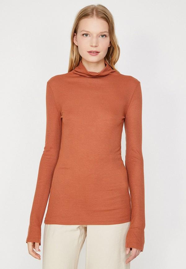 женская водолазка koton, оранжевая