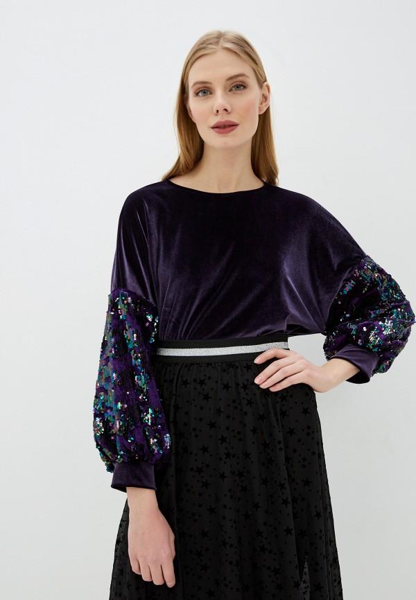 женский свитшот koton, фиолетовый