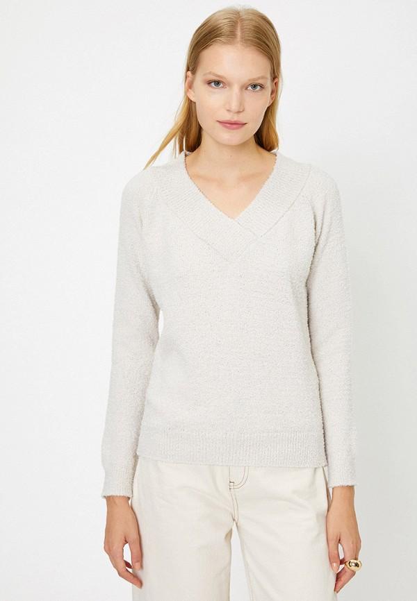 женский пуловер koton, белый