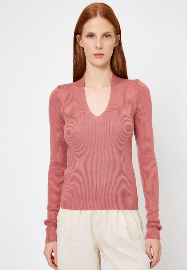 женский пуловер koton, розовый