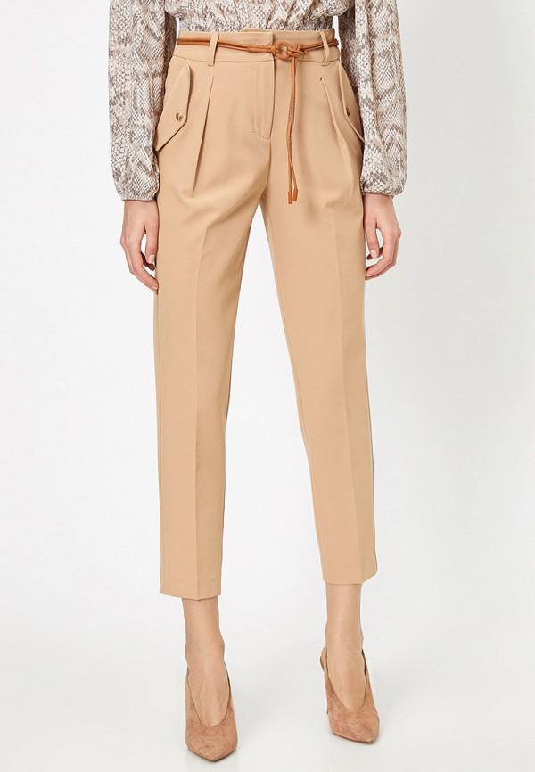 женские повседневные брюки koton, бежевые