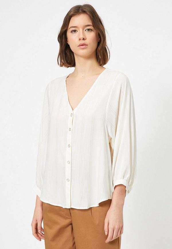 женская блузка koton, бежевая