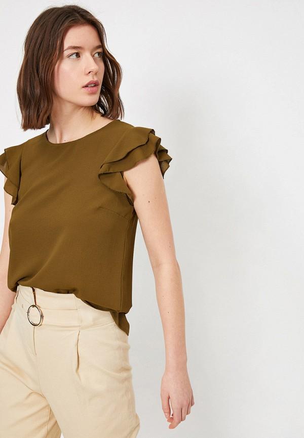 женская блузка koton, хаки