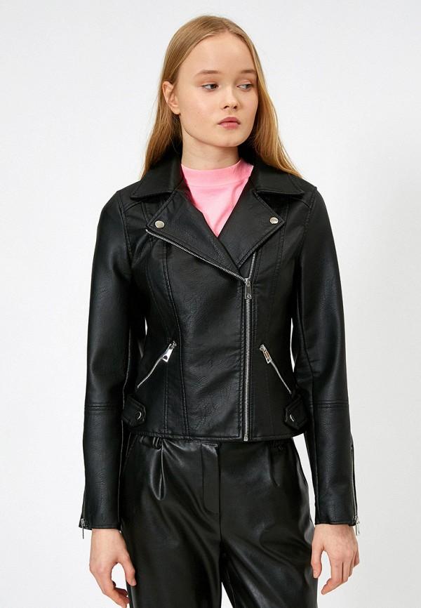 женская куртка koton, черная