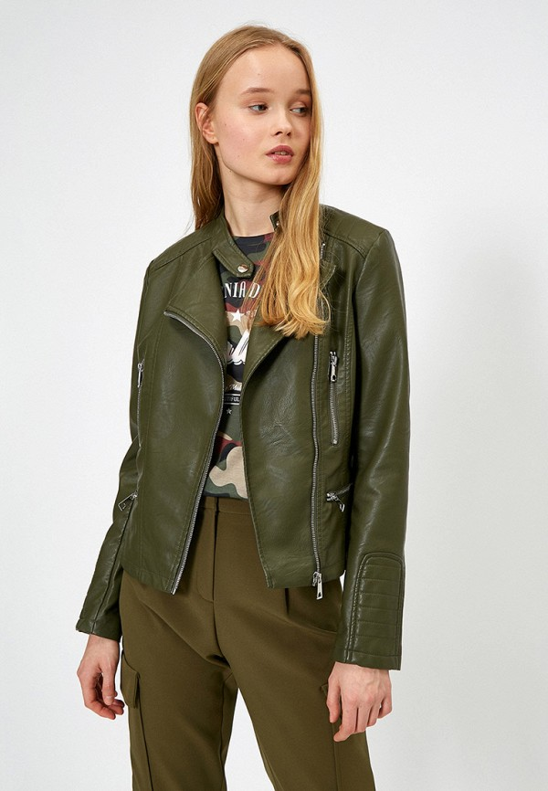 женская куртка koton, хаки