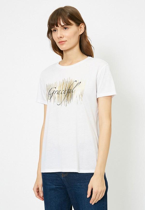 женская футболка koton, белая