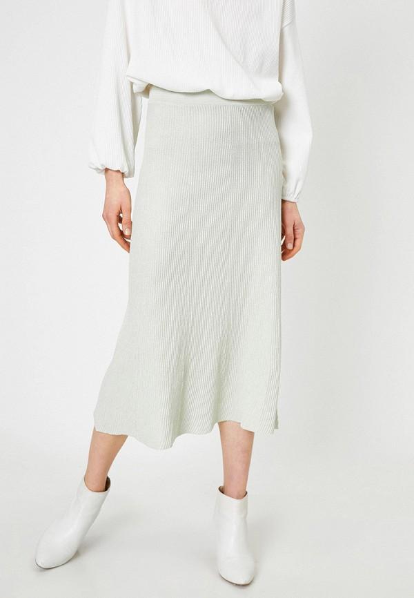 женская юбка koton, зеленая