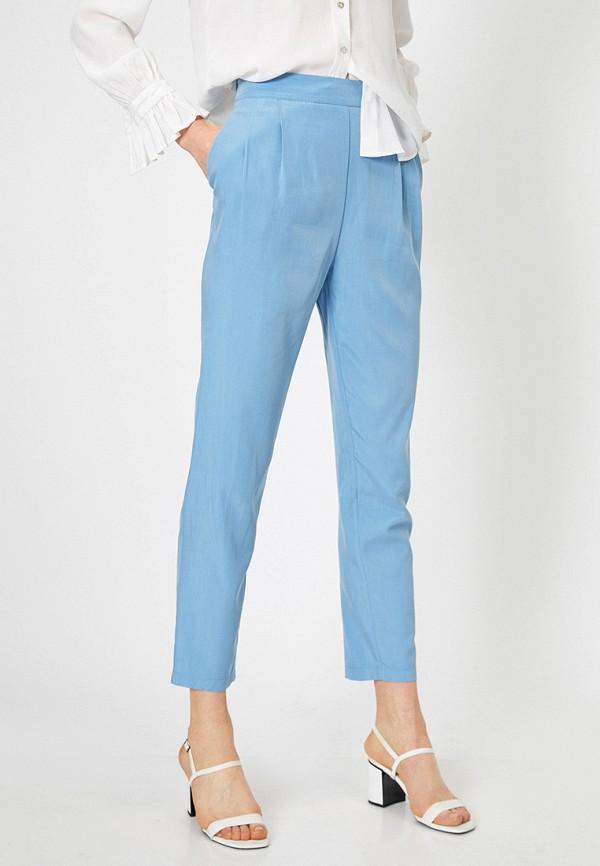 женские повседневные брюки koton, голубые