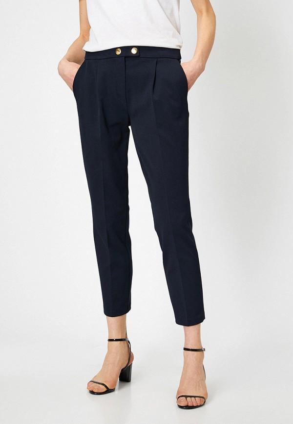 женские классические брюки koton, синие