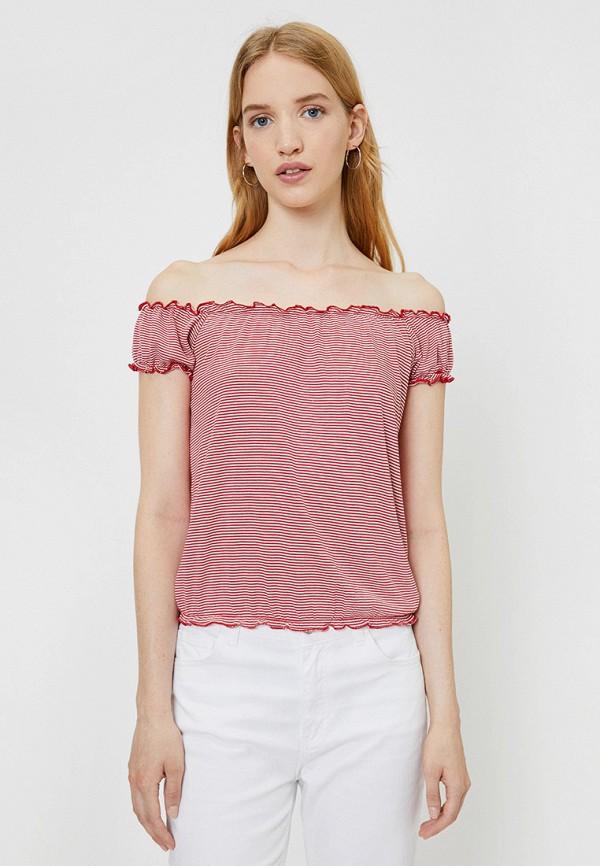женская футболка koton, красная