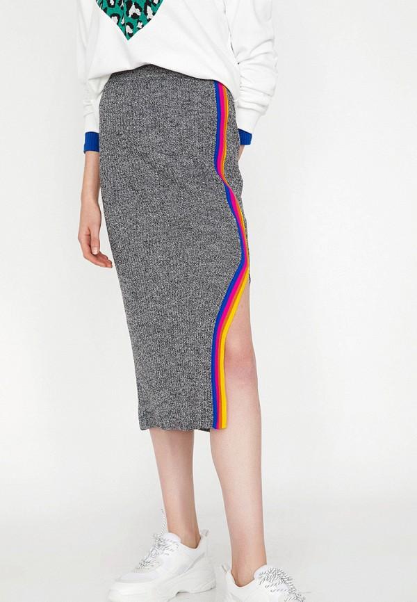 женская прямые юбка koton, серая