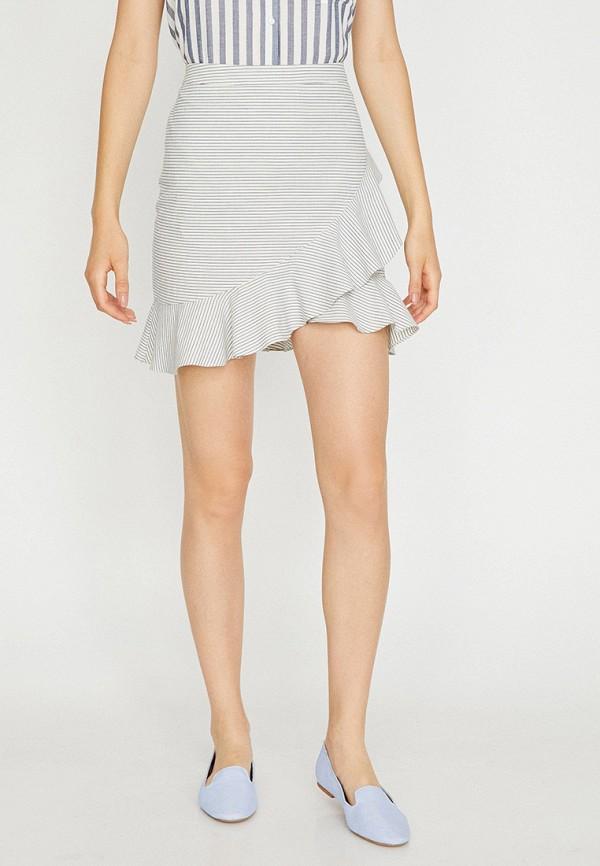 женская юбка koton, белая