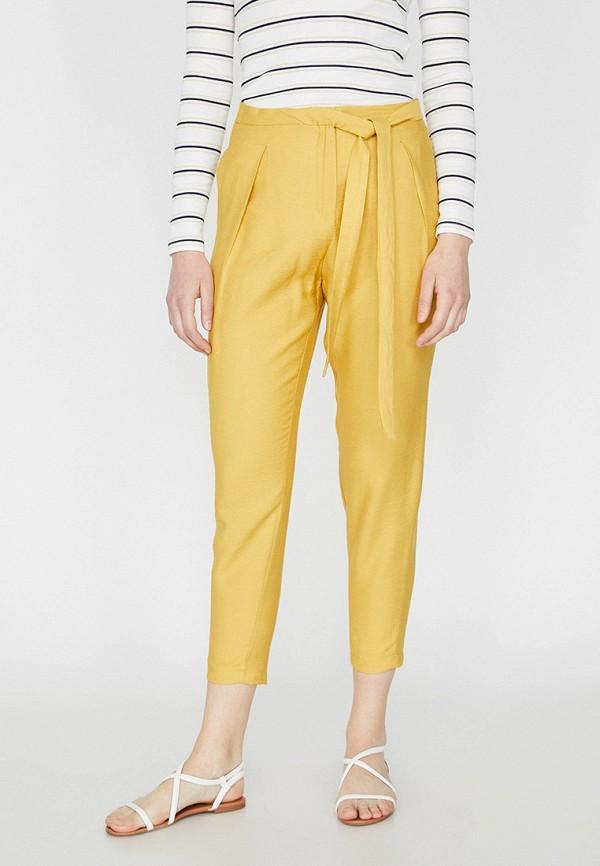женские повседневные брюки koton, желтые