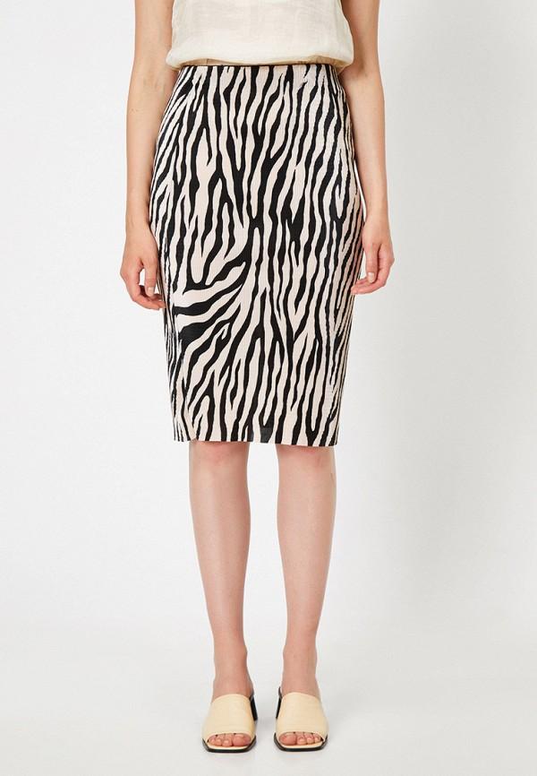 женская прямые юбка koton, разноцветная