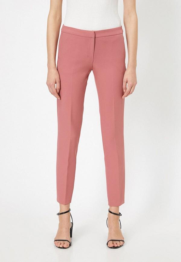женские классические брюки koton, розовые