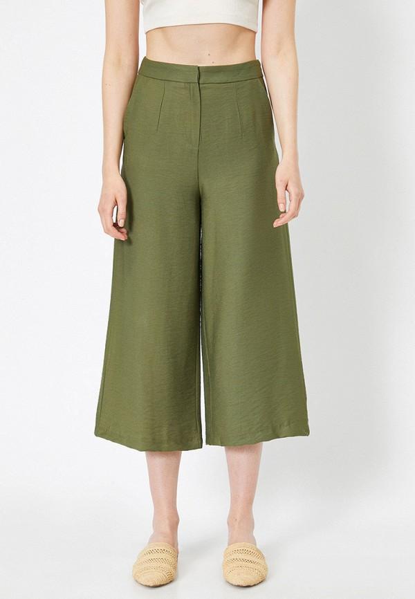 женские брюки koton, зеленые