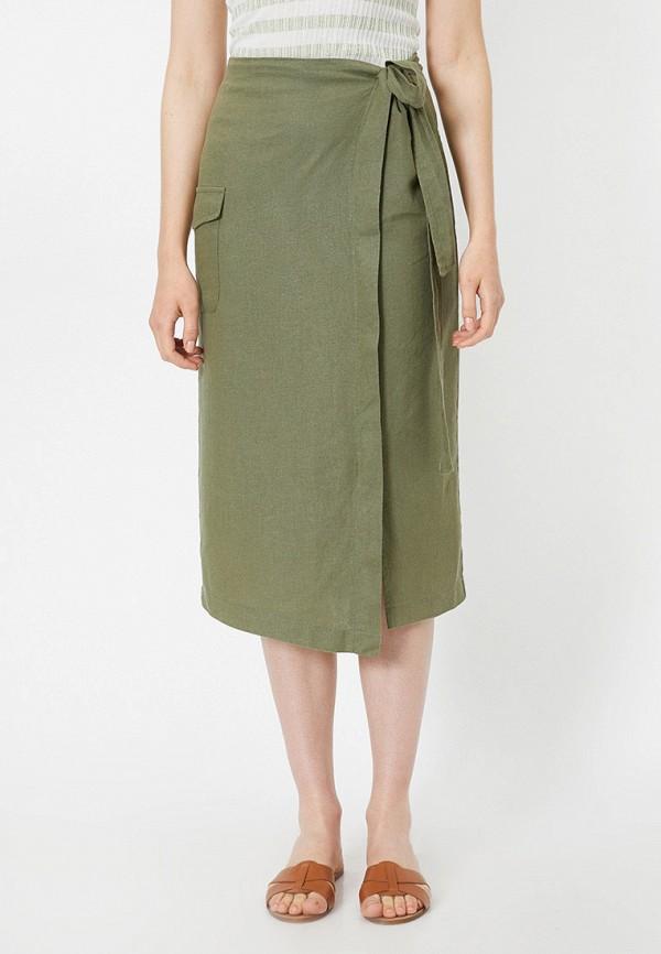 женская прямые юбка koton, хаки