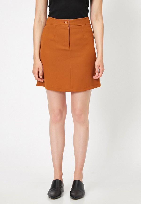 женская юбка koton, оранжевая