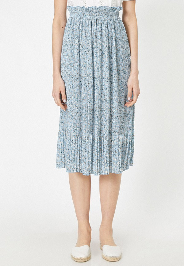 женская юбка koton, голубая