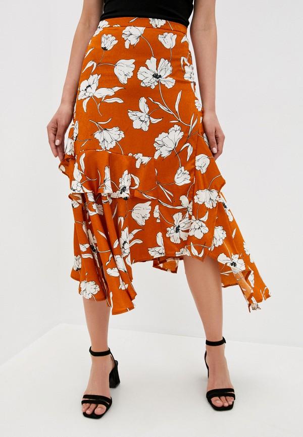 женская юбка koton, коричневая