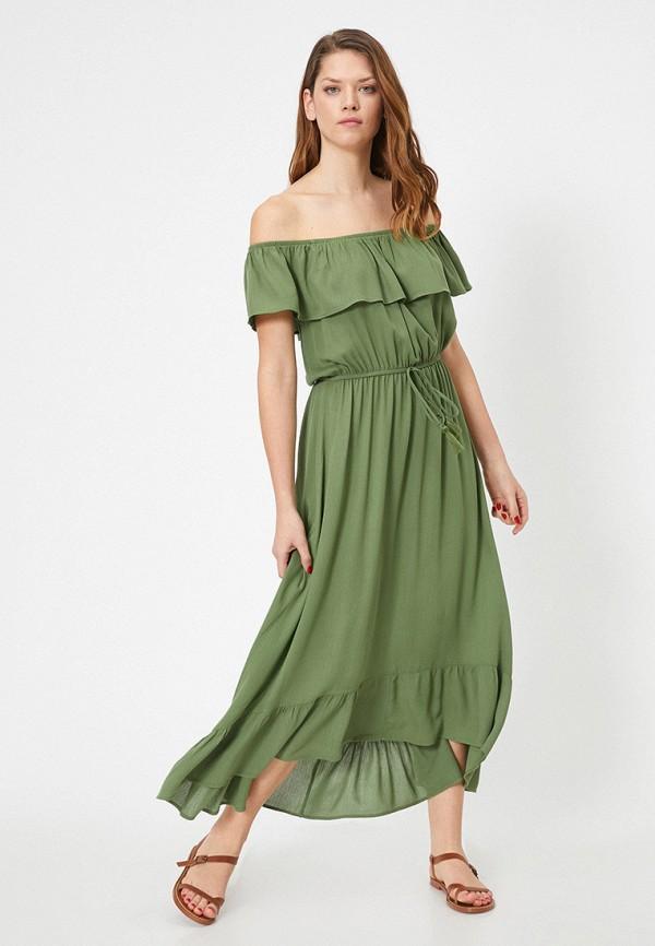 женское платье koton, зеленое