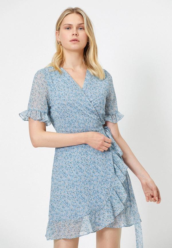 женское платье koton, голубое