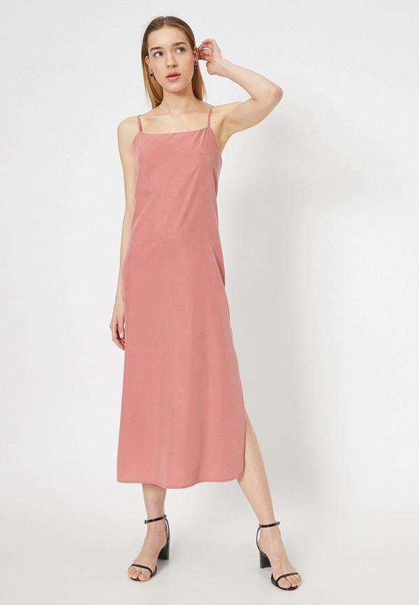 женский сарафан koton, розовый