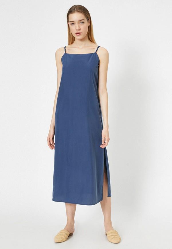 женский сарафан koton, синий