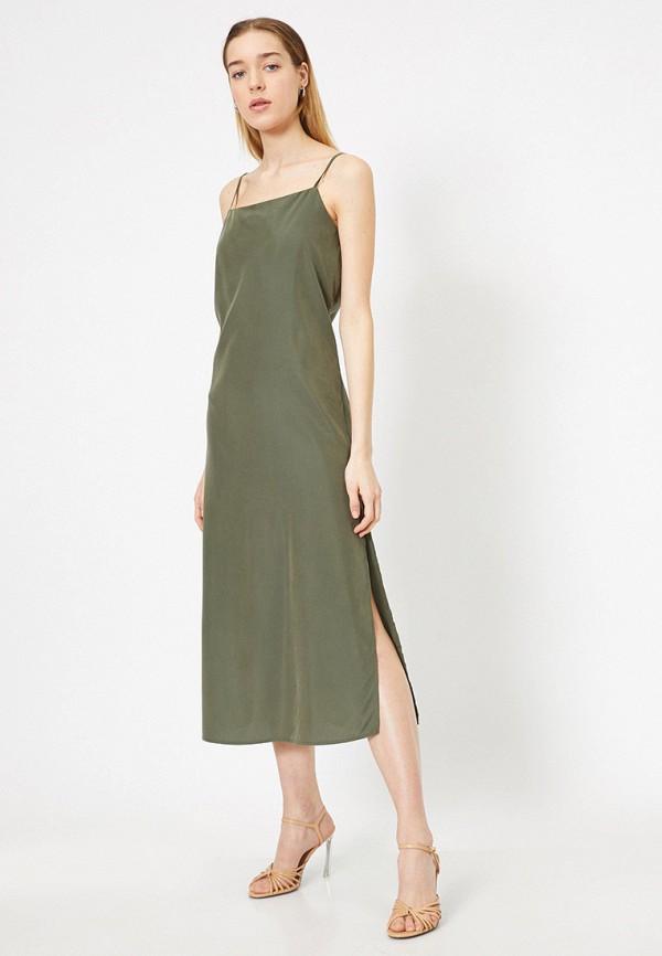 женский сарафан koton, зеленый