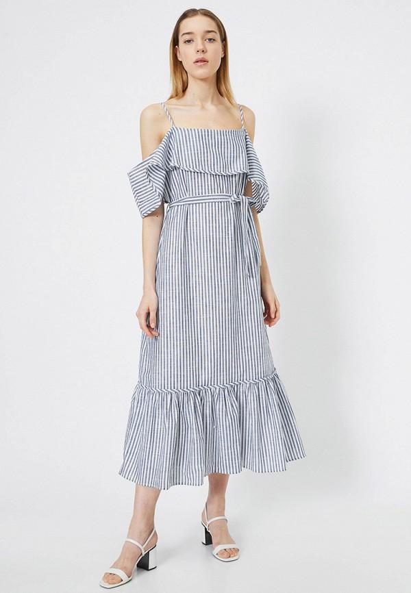 женское платье koton, синее
